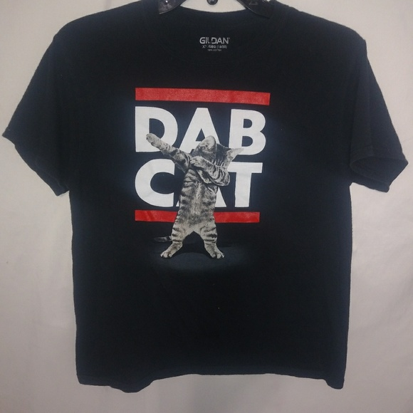 Gildan Other - DAB CAT Black T-shirt Sz XL (18-20)